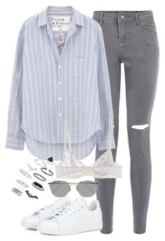 """""""Sin título #2364"""" by marianam97 ❤ liked on Polyvore featuring Frank & Eileen, adidas, La Perla, Linda Farrow and Topshop"""