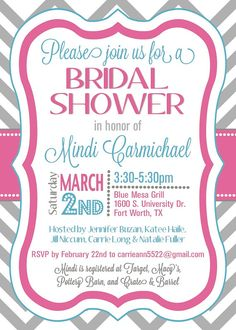 custom chevron bridal shower invitation  by splendidandspark, $15.00