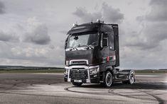 Download wallpapers Renault T, 4k, 2017 truck, new Renault T, truck tractor, cargo transport, Renault