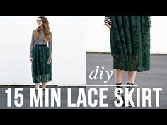 DIY 15 minute lace skirt video
