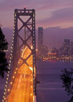 Bay Bridge in SF Bay Area - I always listened to Purple Rain coming back into the city at night. Loved it !!!!