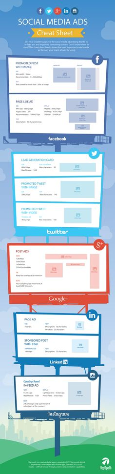 Social Media Ads Cheat Sheet: Image Sizes for Facebook, Twitter, Instagram & More [INFOGRAPHIC]