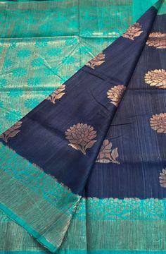 Shop online for Blue Handloom Banarasi Dupion Silk Saree Dupion Silk Saree, Banaras Sarees, Silk Saree Kanchipuram, Organza Saree, Soft Silk Sarees, South Indian Sarees, Ethnic Sarees, Simple Sarees, Trendy Sarees