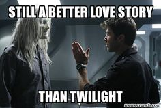 OH MY GOSH, YES!!!! Stargate: Atlantis - Todd the Wraith and Col. Sheppard