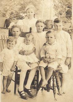 vintage family sepia