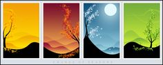 axial tilt reason for the season | this picture represents the change of the four seasons which