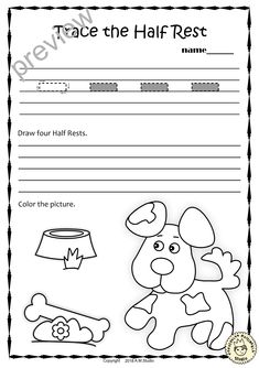 A set of 20 summer themed music worksheets is created to help your students learn to trace, copy, color and draw symbols, notes and rests commonly used in music. Practice in copying them onto their positions on the staff is provided in large size. #elmused #music #musicworksheets #musiceducation #musictracingworksheets #AMStudio