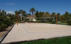 How to build a sand volleyball court! - will need next spring :)