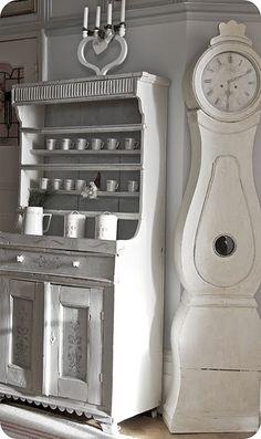 White Swedish Mora clock
