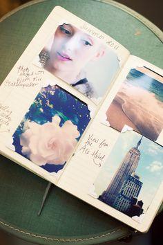 photo journal with photo corners