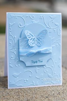 "4/12/2012; Beth Silaika at ""Freckled & fun"" blog; another great white-on-white card!"
