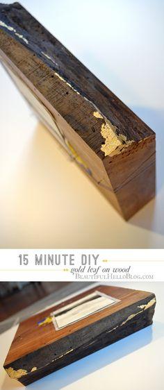 gold leaf diy :  Emily Jeffords : Beautiful Hello Blog