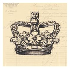 Flower Tattoos : Think I found the crown tattoo Ive wanted! Future Tattoos, New Tattoos, Tatoos, Irish Tattoos, Wing Tattoos, Sweet Tattoos, Sailor Jerry, Les Fables, Theme Tattoo