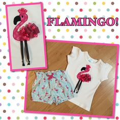 Flamingo shirt I made my daughter to match a pair of shorts