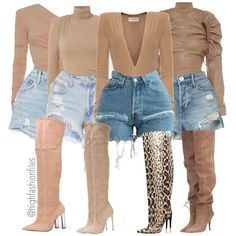 Boujee Outfits, Short Outfits, Model Outfits, Spring Fashion, Autumn Fashion, Hot Dress, Thigh High Boots, Thigh Highs, Her Style
