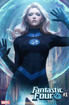 """Marvel has revealed Stanley """"Artgerm"""" Lau's covers to Fantastic Four featuring Mister Fantastic and The Invisible Woman. Marvel Dc Comics, Marvel Avengers, Heros Comics, Bd Comics, Marvel Women, Marvel Girls, Comics Girls, Marvel Heroes, Captain Marvel"""