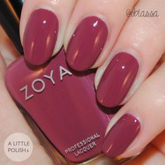 Aubrey from the Zoya Naturel Deux Collection Late Summer / Early Fall Transitional Shades A Little Polish Opi Gel Nails, Manicure And Pedicure, Fall Nail Colors, Nail Polish Colors, Fall Acrylic Nails, Autumn Nails, Nail Paint Shades, Cute Pink Nails, Pedicure Colors