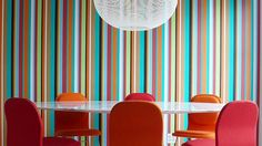 Cool Dining Rooms with Snazzy Striped Walls