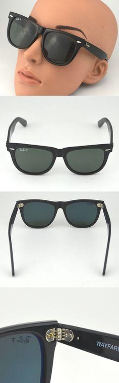 5c0d34a5e81 Sunglasses 155189  Rayban Rb2140 901 58 Original Wayfarer Classics Black  Frame Polarized Green 54Mm -