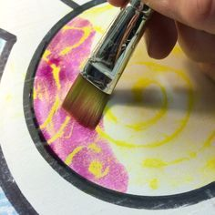 Non-Objective Texture Crayon watercolor Resist