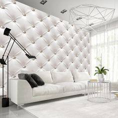 Papier peint moderne White Elegance - topy to - Wallpapers Designs Deco Tv, 3d Wallpaper For Walls, Photo Wallpaper, Feature Wallpaper, Wallpaper Patterns, Living Room Decor, Bedroom Decor, Buy Wallpaper Online, White Elegance