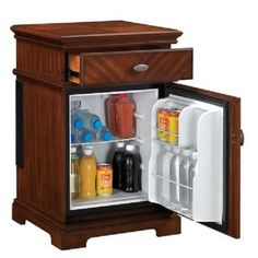 bedside table with mini fridge - Google Search
