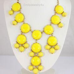 Lemon Yellow Smooth Bubble Necklace -Handmade.
