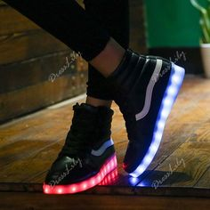 Trendy Led Luminous and High Top Design Women's Sneakers 37-43, Euro 30.45