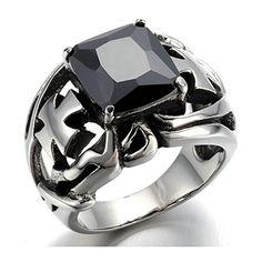 Biker Men Stainless Steel Black Diamond Cross Ring,Silver... https://www.amazon.com/dp/B01GKU965S/ref=cm_sw_r_pi_dp_9SvzxbSSY027N