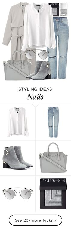 """""""Untitled #2567"""" by elenaday on Polyvore featuring KAROLINA, NARS Cosmetics, Dr. Denim, Givenchy, Nicholas Kirkwood and Christian Dior"""