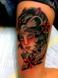 American Traditional Eagle Tattoos