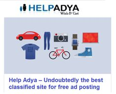 Help AdyaforFree classified site for job posting  HelpAdyais India's largestfree classified site for ad posting. Simply browse and find best product, services & jobs that suit your skills or post jobs at free of cost. HelpAdyais your one-stop-shop with extensive variety of categories, from electronic equipments to cars & bikes post your ad free of cost. To know more aboutfree job postingvisitwww.helpadya.comor for any query call at +8527198118.