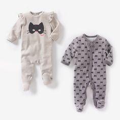 image Pijama con pies de terciopelo (lote de 2) R baby