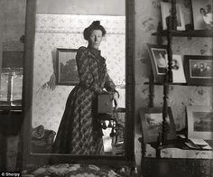 World's first selfie?: This image, which dates from 1900, shows a female photographer and her Box Brownie