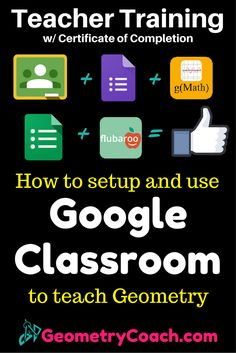 Want Google to Grade your students' work Geometry work for you? also get a Certificate of Completion to use as CEU or for your Artifacts during evaluations! geometrycoach.com...