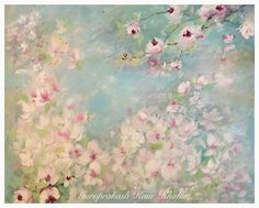 Spring time is coming! #shabbychic #rosepaintings Inspired by my hero Laurence Amelie