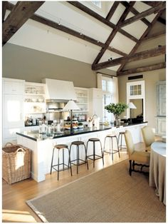 Barefoot Contessa, Ina Garten's barn kitchen, designed so everybody can cook together.