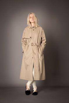 2021-22 A/W 024, Water-repellent High Density Gabardine Shirt Cut Trench Coat FRC-C02-001, Washable Wool Rib Knit Slit Leggings FRC-P11-903 Cut Shirts, Trench, Rib Knit, Raincoat, Leggings, Knitting, Jackets, Wool, Water