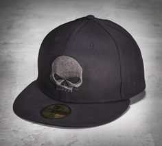 Go for a simple style upgrade. | Harley-Davidson Men's 59FIFTY Skull Baseball Cap