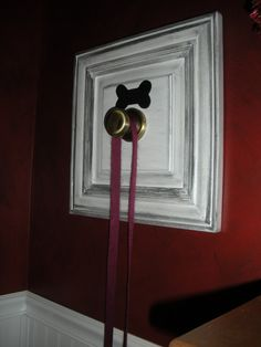Wood Dog Leash Holder with Brass Knob by AtticJoys1 on Etsy, $23.00