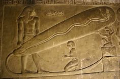 """Electricity in ancient Egypt: Beneath the Temple of Hathor at Dendera there are inscriptions depicting a bulb-like object which some have suggested is reminiscent of a """"Crookes tube"""" (an early lightbulb). Today, scientists are starting to realize that the ancient Egyptians (Kemites) had already invented alot of technology that are attributed to modern inventors."""