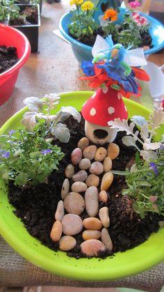 "Make fairy homes into a part of fairy garden? Photo 1 of woodland fairy / Birthday ""Hannah's Birthday - Woodland Fairy Party"" Mickey Mouse Clubhouse, Minnie Mouse Party, Garden Birthday, Fairy Birthday Party, Birthday Parties, Fairy Party Games, 5th Birthday, Birthday Ideas, Party Garden"