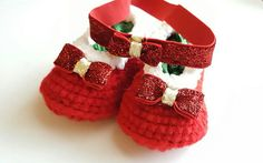 Check out this item in my Etsy shop https://www.etsy.com/listing/482943044/red-christmas-shoes-christmas-headband