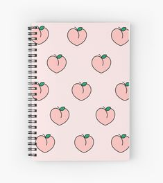 """Aesthetic Pink Peaches"" Spiral Notebook by AngelicSouls - school supplies Korean Stationery, Japanese Stationery, Kawaii Stationery, Korean School Supplies, Cool School Supplies, Stationary School, Cute Stationary, Stationary Design, Mochila Do Bts"