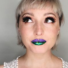Ariel-inspired lip art | The Little Mermaid | makeup art | [ https://style.disney.com ]