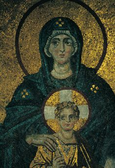 mosaic of Virgin and child