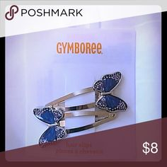 Gymboree Butterfly clips set NWT Gymboree Butterfly hair clips Set of 2  New with Tags They are purple, blue and silver. Smoke and pet free home Gymboree Accessories Hair Accessories