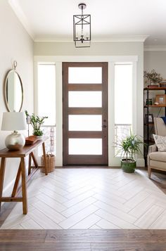 seattle Modern Tile Entryway with dimmer switch entry modern and farmhouse design wood tile herringbone