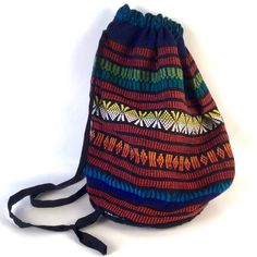 A personal favorite from my Etsy shop https://www.etsy.com/listing/242984504/vintage-colorful-backpack-guatemalen