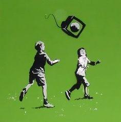 Bansky Banksy Work, Banksy Graffiti, Graffiti Artwork, Bansky, Best Street Art, Amazing Street Art, Amazing Art, Murals Street Art, Street Art Graffiti